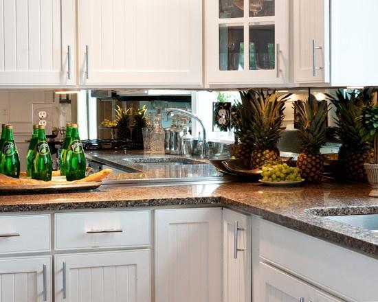Kitchen Mirror Backsplash Design, Pictures, Remodel, Decor and Ideas - page 10