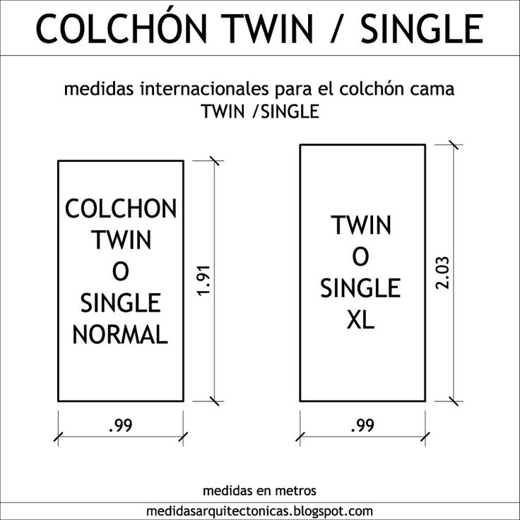 17 best ideas about medidas colchones on pinterest - Medidas de cama individual ...