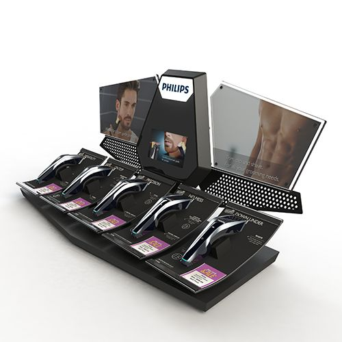 Philips Male Grooming Counter Unit by Exposure Creative #counterunit #unit #display #pointofsale #pos #pop #design