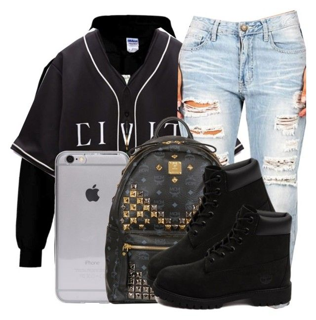 She The Life Of The Party She Finna Get Naughty. by jaysational on Polyvore featuring polyvore fashion style Retrò Timberland MCM clothing