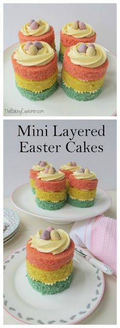 The Baking Explorer: Mini Layered Easter Cakes & A Mary Berry Homeware Competition!