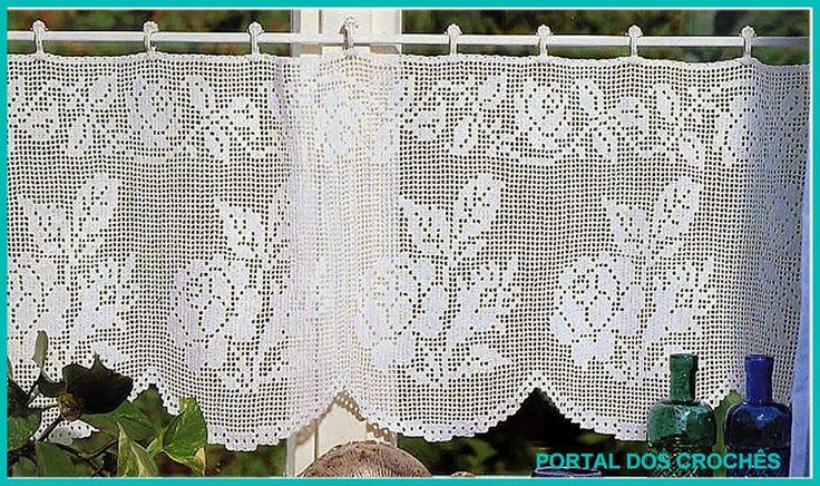 Crochet Filet Valance Roses 2 of 2