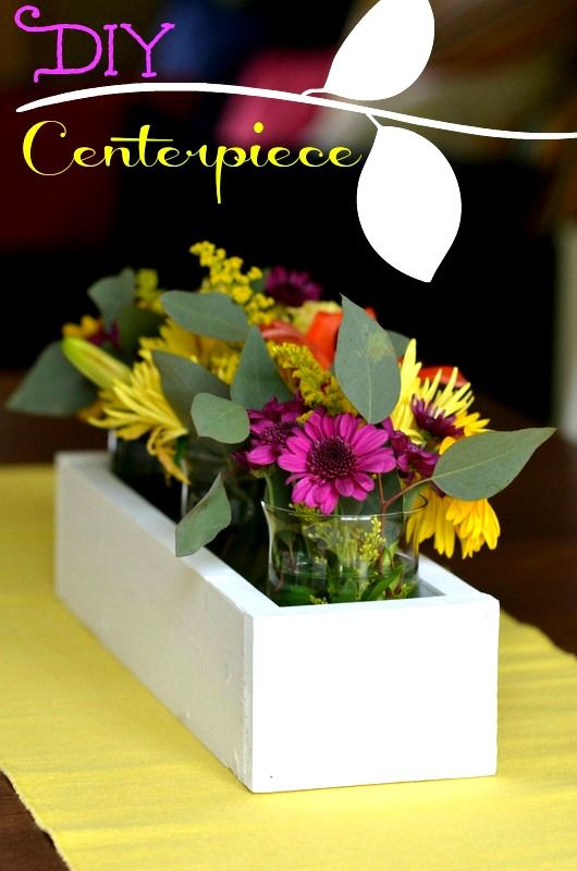 Now That Spring Has Arrived And The Flowers Have Started Blooming This DIY Table Centerpiece