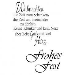 Efco Stempel Clear Frohes Fest, transparent, A7/ 74 x 105 mm, 2-teilig
