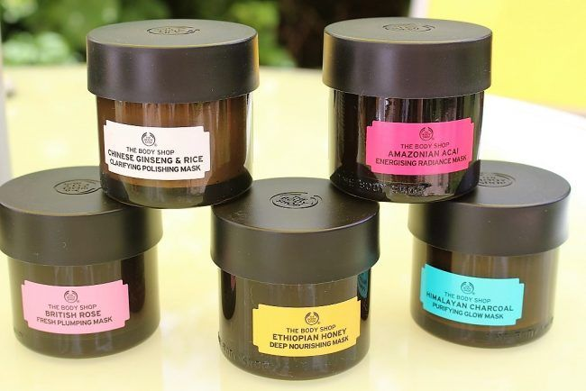 body shop superfood masks