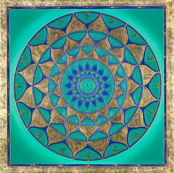 Mandala turchese e oro