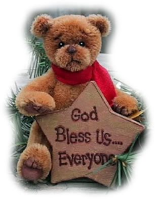 Miniature mohair Christmas bear.