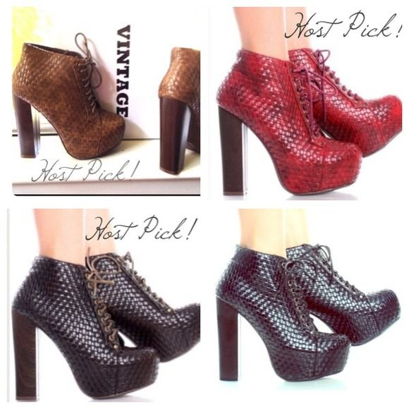 "Spotted while shopping on Poshmark: ""NEW✨Chunky Heel Ankle Boots w/Basket Weave Texture""! #poshmark #fashion #shopping #style #Vintage #Boots"