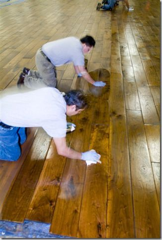 Maybe Hand Waxing My Floors Would Be A Er Alternative To Refinishing Mine According Olde Savannah It S Better Quality