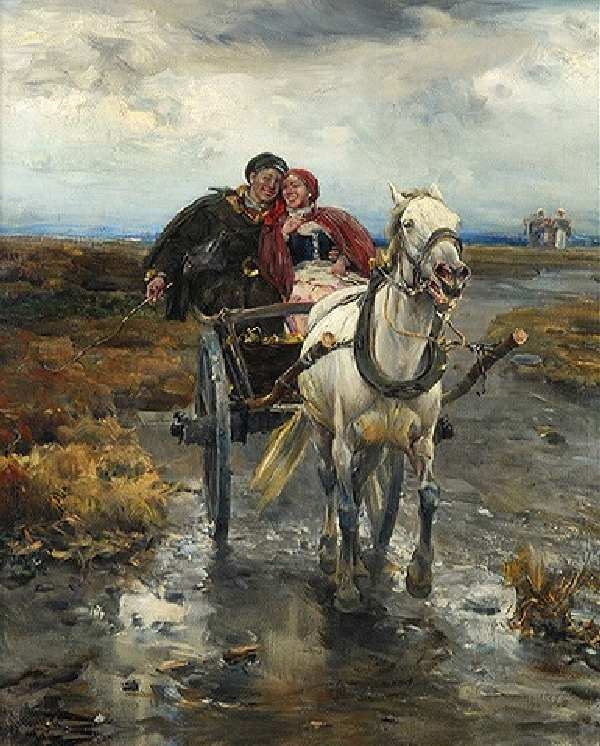 107 Color Paintings of Alfred Wierusz-Kowalski. Born 1849 in Suwalki town. Died 1915 in Monachium .