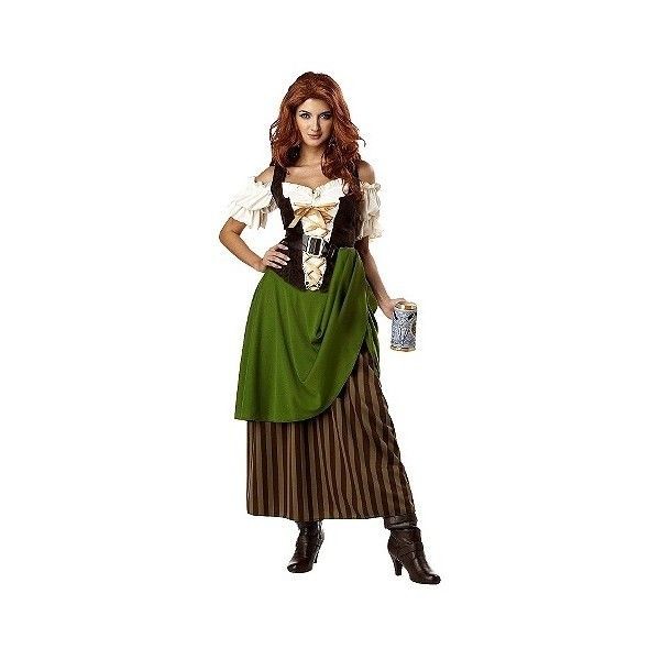 Treat yourself to some snacks! http://amzn.to/2oEqnkm Women's Tavern Maiden Costume, Size: Medium, Variation Parent ($41) ❤ liked on Polyvore featuring costumes, halloween, variation parent, tavern maiden costume, bar wench costume, saloon girl, beer wench costume and beer gi