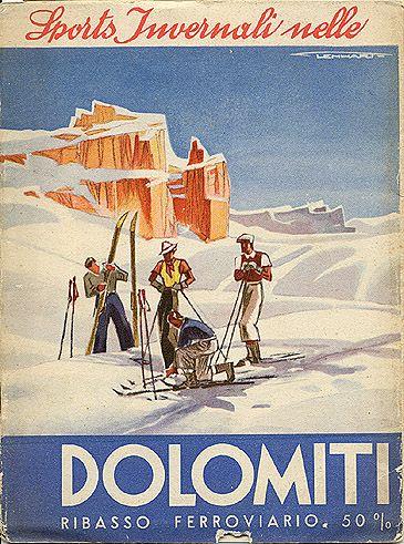 "ITALY - ""Sports Invernali nelle Dolomiti,"" 1934. Front cover"