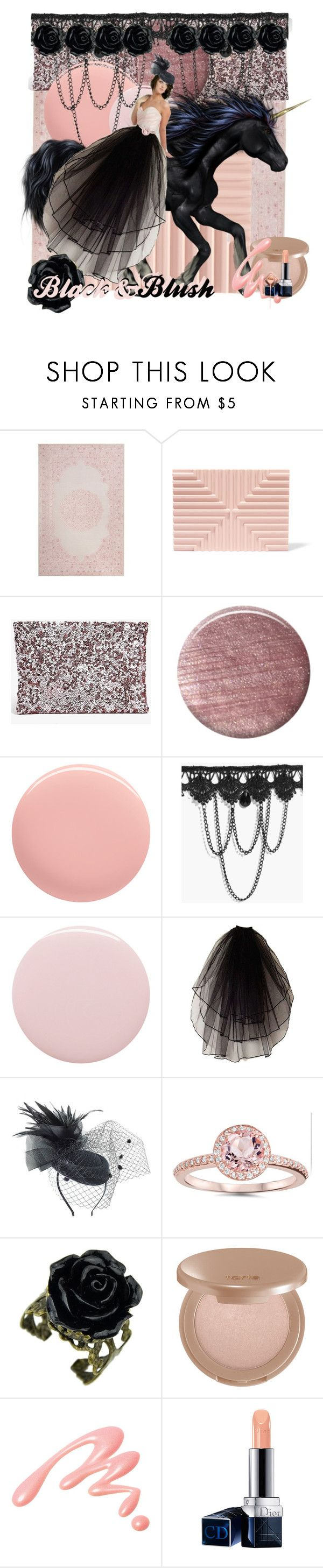 """""""Black & BluShhh"""" by jessalena ❤ liked on Polyvore featuring Lee Savage, Boohoo, Lauren B. Beauty, Nails Inc., tarte, Chantecaille and Christian Dior"""