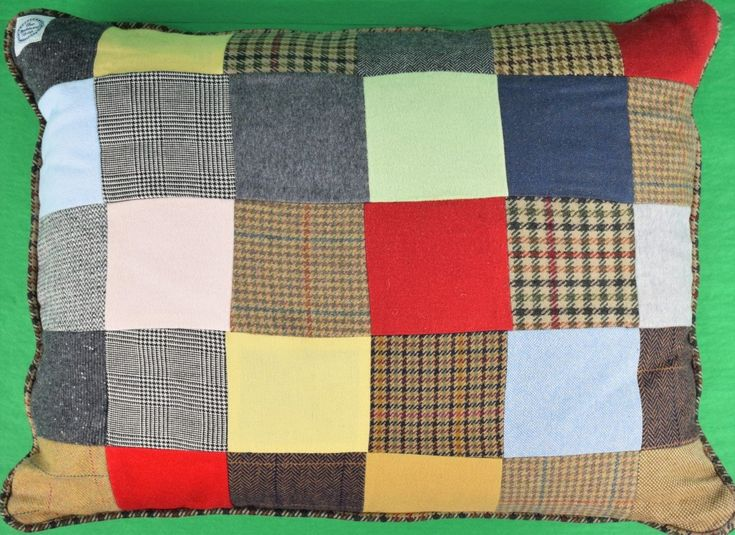 """'Fab Custom Patch Tweed Pillow from The Andover Shop!"""""""