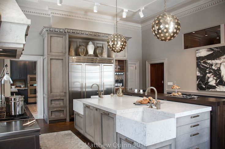 Corner Sinks Contemporary Kitchen Matthew Quinn Design Kitchen Island With Sink Grey Kitchen Island Curved Kitchen