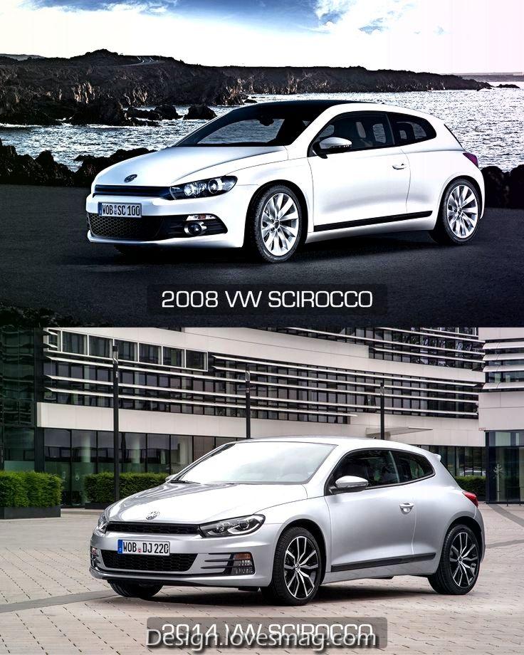 Vergleich Von Vw Scirocco Konzept 2008 Und 2019 In 2020 Volkswagen Vw Autos Konzept