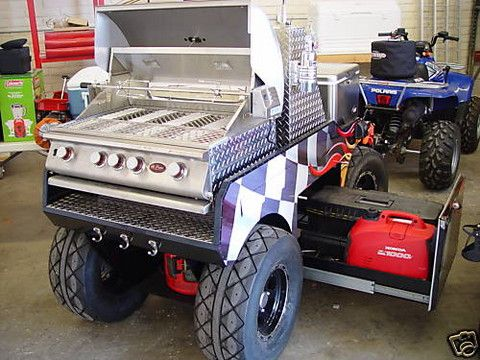 Build a BBQ Smoker Plans | 17k NASCAR-themed BBQ grill trailer - SlashGear
