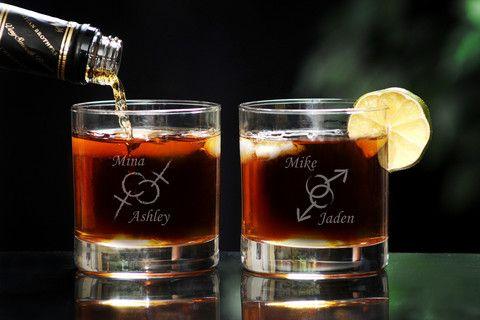 LGBTQ Whiskey Glass Set