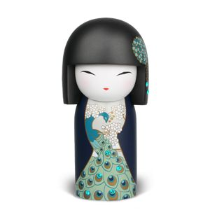 Kazue - Limited Edition  Only 5000 produced globally.  Each Limited Edition Kimmidoll™ is packaged in a beautiful paper wrapped display case with the doll's name and meaning, finished with jewel embedded metal handle,  Swarovski Crystal and hanging tassel.  Includes collectors card.  Size: 74 x 155mm  RRP: $49.99