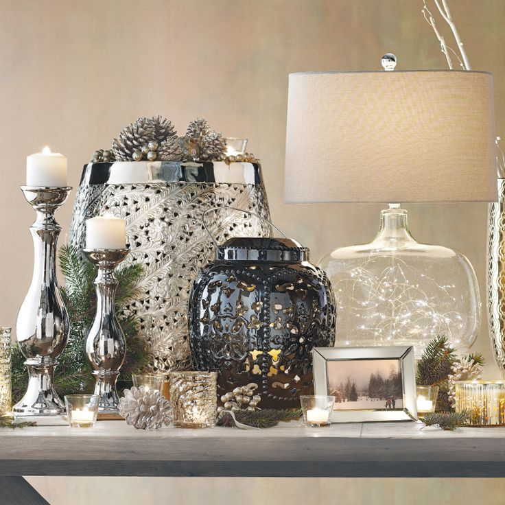 Candle holders add the perfect amount of glow to any holiday table or mantel. #HomeDecorators #Holidays