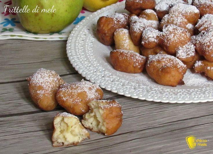 Frittelle di mele ricetta di carnevale frittelle soffici con mele a pezzi e farina di riso il chicco di mais
