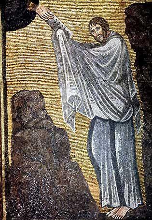 Monastero di Santa Caterina, Sinai, Egitto. I mosaici degli anni 557-560. Il periodo di Giustiniano. MOSÈ