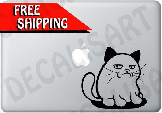 Macbook Decal Grumpy Cat Meme Mac Decal Macbook by DecalisArt, $7.95