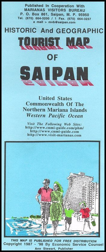 Tourist Map Of Saipan