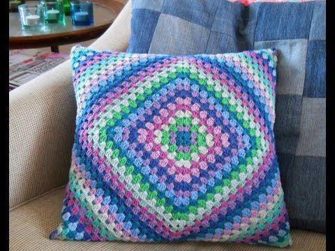 How to Crochet a Pillow: Retro Granny Square Crochet Along - YouTube