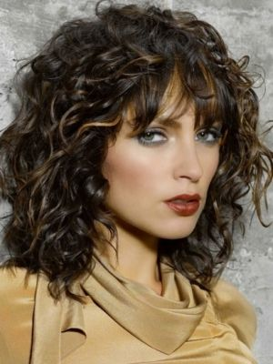 Only 'cause it's kinda curly...: Curly Hairstyles, Medium Length, Layered Hairstyles, Hair Cut, Curly Hair Style, Bangs, Wigs, Medium Hairstyles, Medium Curly