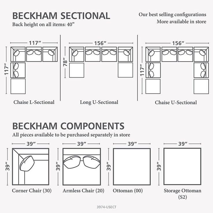beckham ushaped sectional