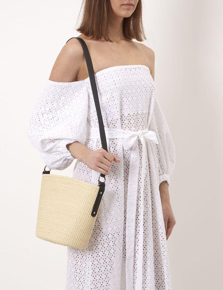Natural Straw Cross Body Bag