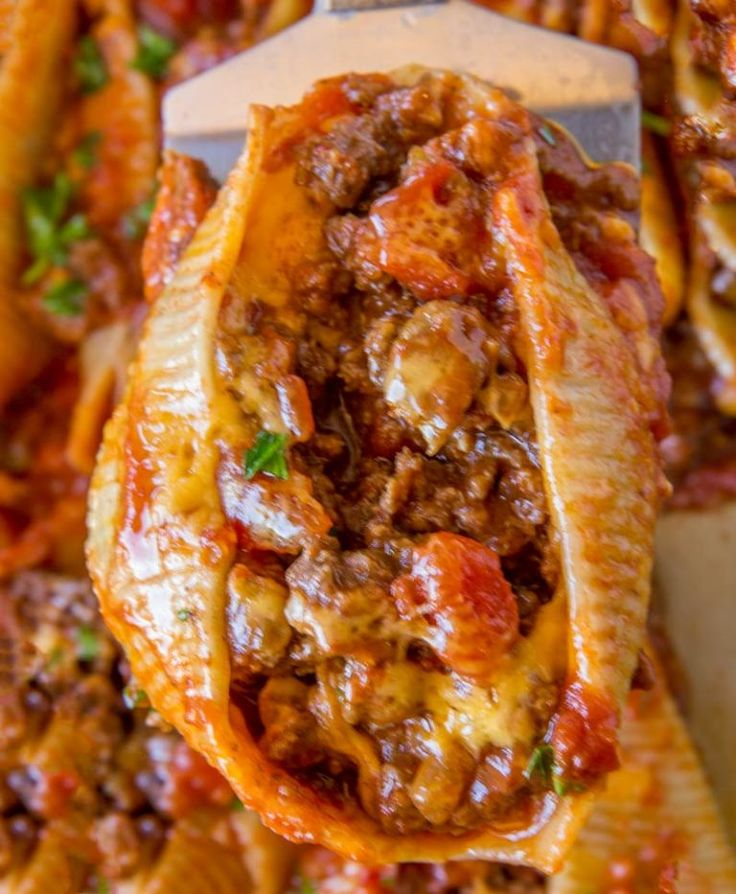Done in just 30 minutes and with five ingredients, you'll love these Cheesy Taco Stuffed Shells!