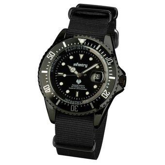 Infantry Marine นาฬิกาข้อมือ – รุ่น IN-019BLK Black | โปรโมชั่นพิเศษ