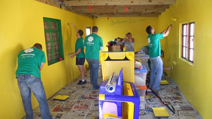 Repainting the Sunflower Educare centre