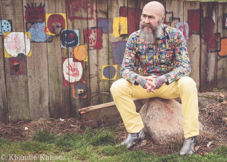 'Pip Phatkins'. Male fashion shoot outside. Copyright Khandie Photography.