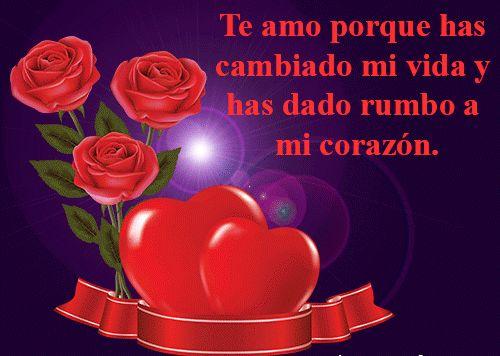 Descargar Imagen Romantica De Corazones Y Rosas Con Lindas Frases De