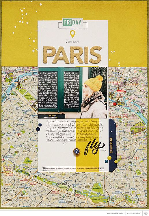 Love how she used that card as a background! Paris. by aniamaria at @studio_calico