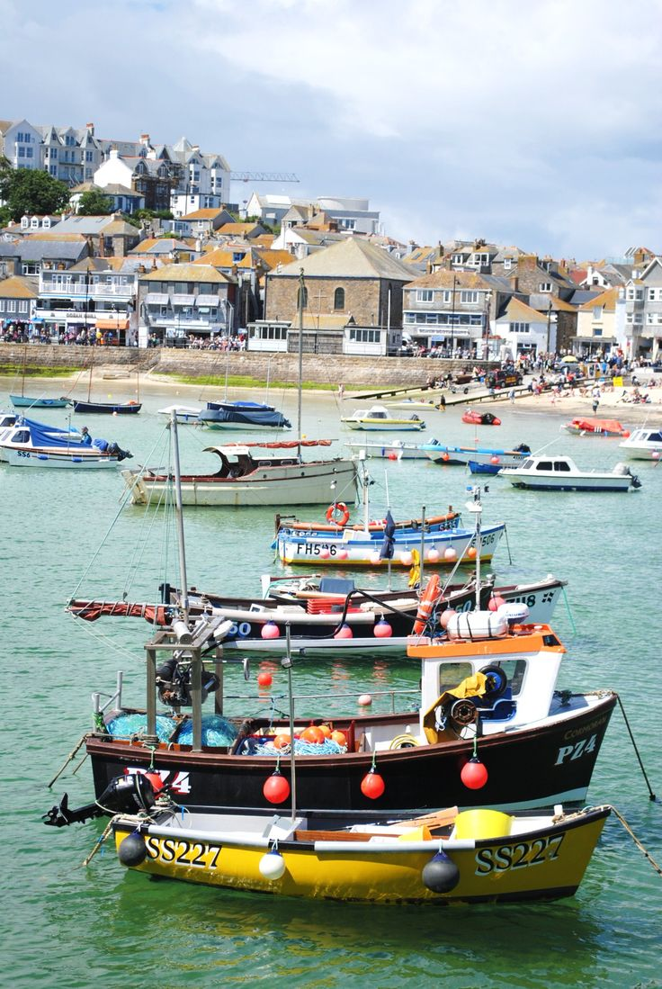 """St Ives: """"Crowning the north coast of the Penwith peninsula, where wide, white beaches meet the gorgeously blue waters west of the Hayle estuary, St Ives has a luminous beauty quite unlike anywhere else in Cornwall."""" www.bradtguides.com"""