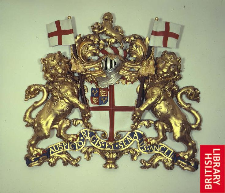 British East India Company Coat of Arms c. 1730