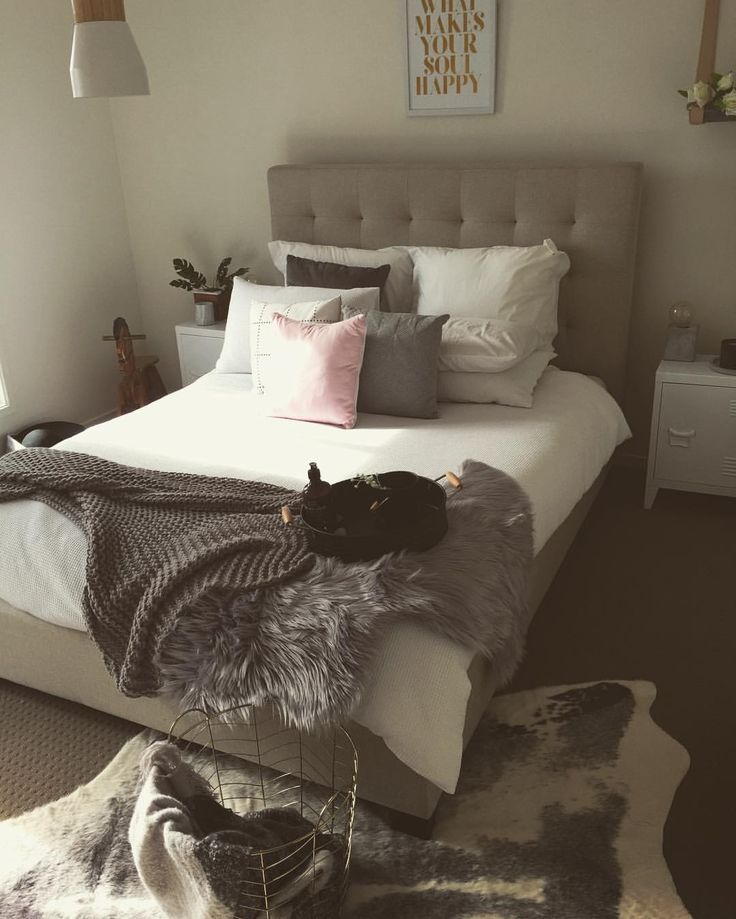 """• C L A I R E • on Instagram: """"With the abundance of @kmartaus in this room I added a touch of @therejectshop with the pink cushion for $9  everything else is #Kmart , bed from @freedom_australia"""""""