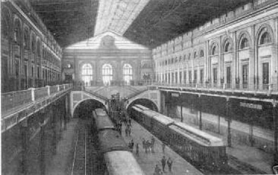 Interno della antica Stazione di Napoli