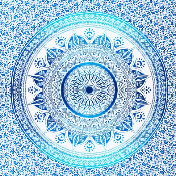 100% cotton mandala throw  1 x queensize sheet (2100cm x 2200cm)  We only use the highest quality, ethically sourced materials in the production of our