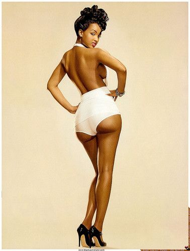 black pinup (by zach.strauss)love this, why aren&8217;t there more black pinup models?