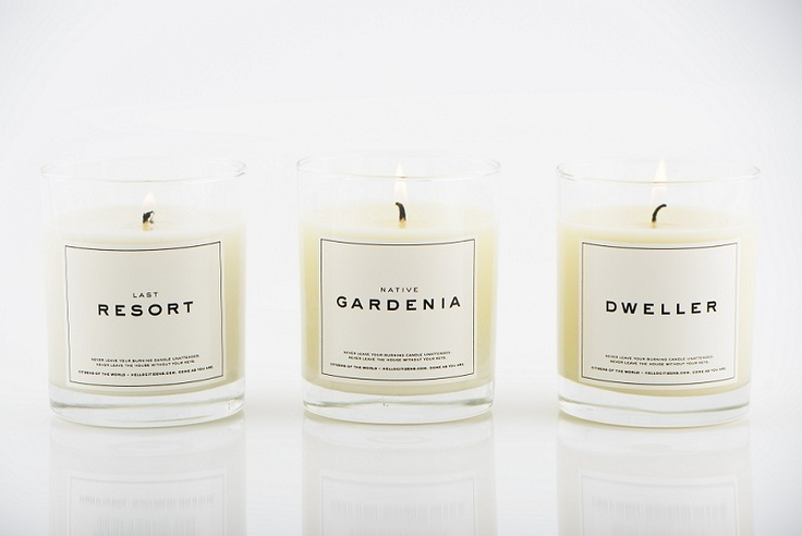 Our LAST RESORT, NATIVE GARDENIA & DWELLER candles all hanging out together. #COSY
