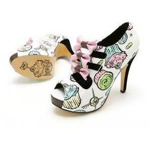 THESE WERE MEANT FOR MEE!!!!!! Iron Fist Killer Cupcake heels (a favourite gothic punk shoes repin of VIP Fashion Australia )