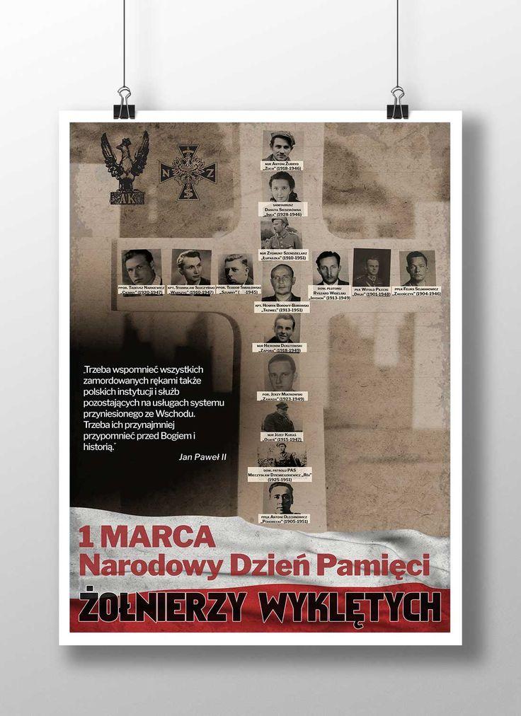 Projekt plakatu - Narodowy Dzień Pamięci Żołnierzy Wyklętych