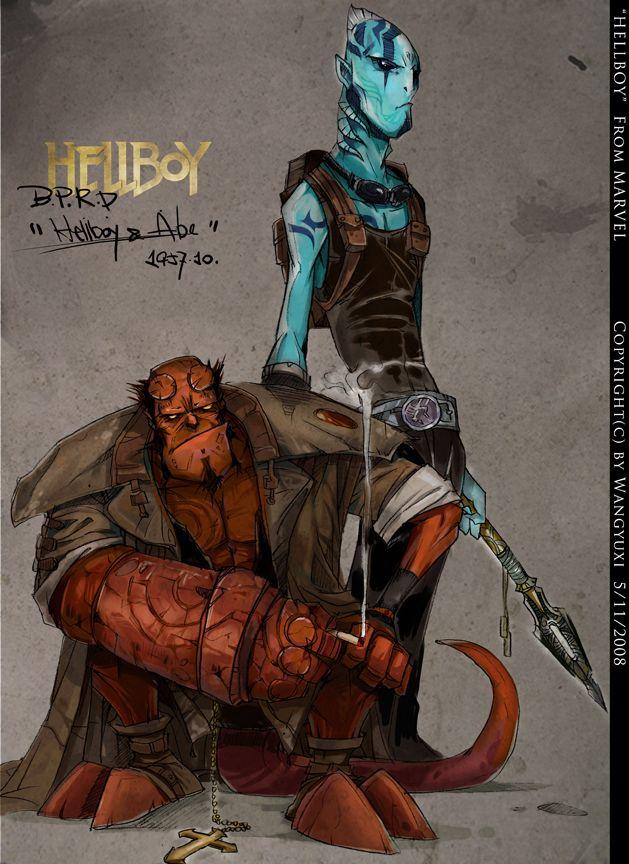 HellBoy+by+Wangyuxi.deviantart.com+on+@deviantART