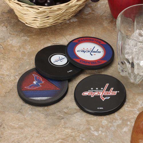 Washington Capitals 4-Pack Puck Coaster Set