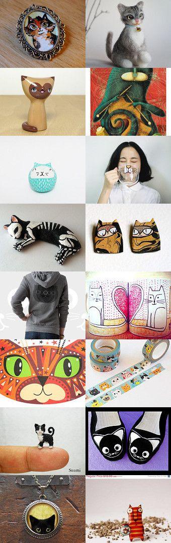 Cats, cats, cats... by Patricia Stockebrand on Etsy